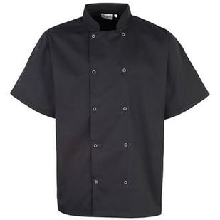 Premier Studded Front Short Sleeve Chef's Jacket