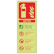 GITD Water Extinguisher ID - Portrait