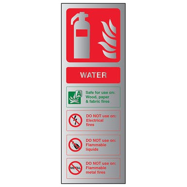 Aluminium Effect - Water Fire Extinguisher