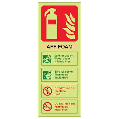 GITD AFF Foam Extinguisher ID - Portrait