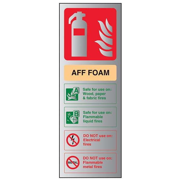 AFF Foam Fire Extinguisher - Aluminium Effect