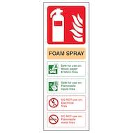 Foam Spray Fire Extinguisher