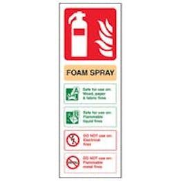 Eco-Friendly Foam Spray Fire Extinguisher