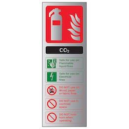 CO2 Fire Extinguisher - Aluminium Effect
