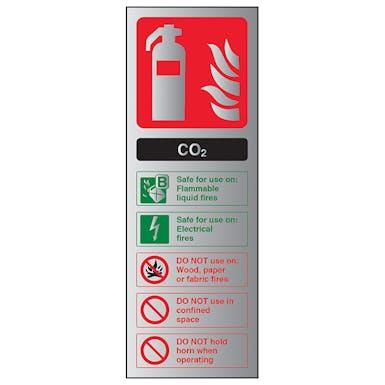 Aluminium Effect - CO2 Fire Extinguisher