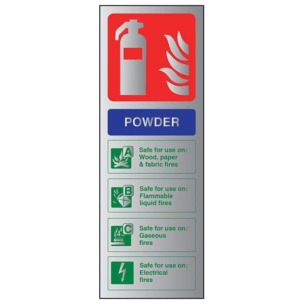 Powder Fire Extinguisher - Aluminium Effect