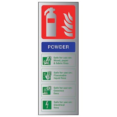 Aluminium Effect - Powder Fire Extinguisher