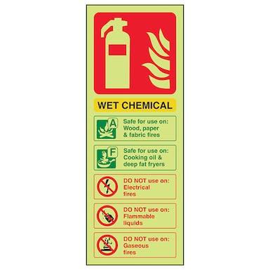 GITD Wet Chemical Extinguisher ID - Portrait
