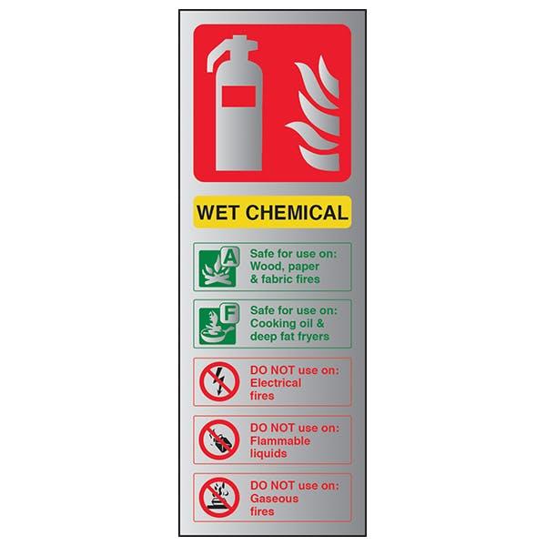 Wet Chemical Fire Extinguisher - Aluminium Effect