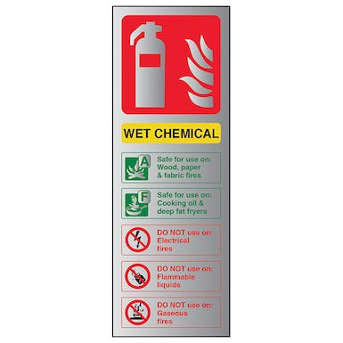 Aluminium Effect - Wet Chemical Fire Extinguisher