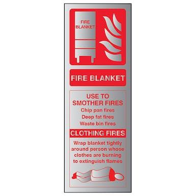 Aluminium Effect - Fire Blanket ID