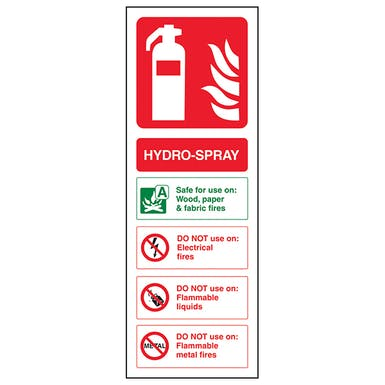 Hydro-Spray Fire Extinguisher
