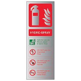 Hydro-Spray Fire Extinguisher - Aluminium Effect