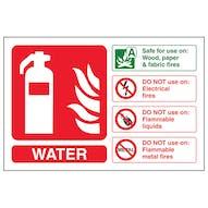Water Fire Extinguisher - Landscape