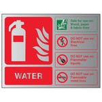 Water Fire Extinguisher - Landscape - Aluminium Effect