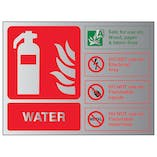 Water Fire Extinguisher - Landscape - Aluminium Effect