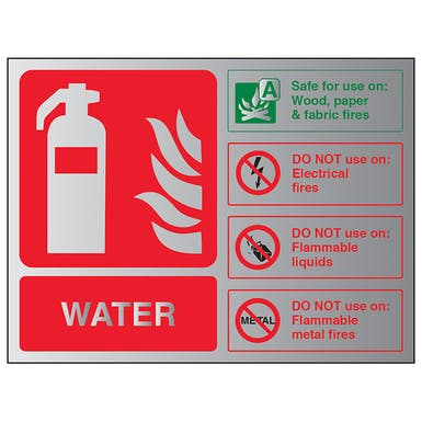 Aluminium Effect - Water Fire Extinguisher - Landscape
