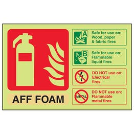 GITD AFF Foam Extinguisher ID - Landscape