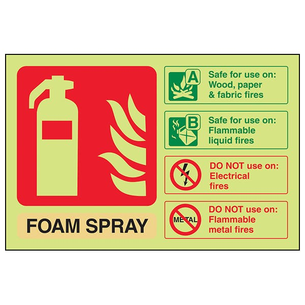 GITD Foam Spray Extinguisher ID - Landscape