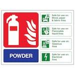 Powder Fire Extinguisher - Landscape