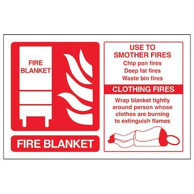 Fire Blanket Fire Extinguisher - Landscape