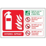 Hydro-Spray Fire Extinguisher - Landscape