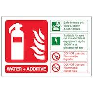 Water + Additive Fire Extinguisher - Landscape