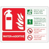 Water + Additive Fire Extinguisher - Landscape