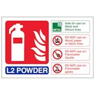 L2 Powder Fire Extinguisher - Landscape