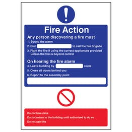 A4 - Fire Action - Any Person Discovering A Fire