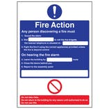 A4 - Fire Action - Any Person Discovering A Fire/Nearest Telephone