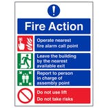 Fire Action  4 Point Do Not Use Lift- Polycarbonate