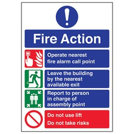 A4 - 3 Point Fire Action Notice