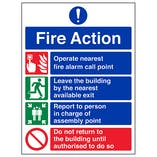 Fire Action 4 Point - Polycarbonate