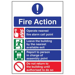 A4 - 4 Point Fire Action Notice