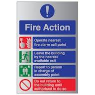 Aluminium Effect - Fire Action Operate...