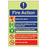 GITD Fire Action - Do Not Use Lifts