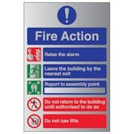 Aluminium Effect - Fire Action Raise Alarm...