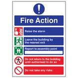 A4 - 5 Point Fire Action Notice/Do Not Take Risks