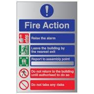 Aluminium Effect - Fire Action Do Not Take...