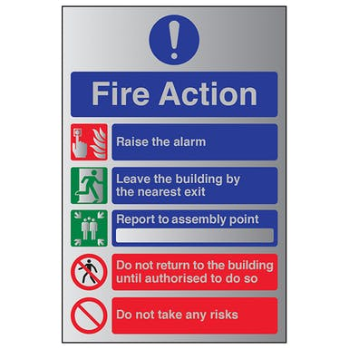 Aluminium Effect - Fire Action Do Not Take...