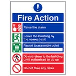 Eco-Friendly 5 Point Fire Action Notice/Do Not Take Risks