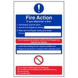 Fire Action - If You Discover A Fire