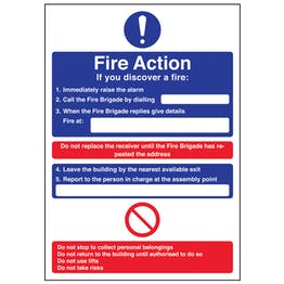 A4 - Fire Action - If You Discover A Fire