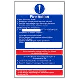 Eco-Friendly Fire Action - If You Discover A Fire/On Hearing Alarm