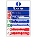 6 Point Fire Action - If You Discover A Fire