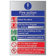 Aluminium Effect - Fire Action If You Discover...