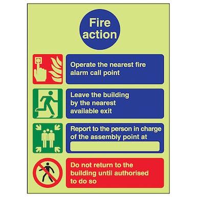 GITD Fire Action - Operate Alarm/Do Not Return