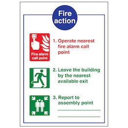 A4 - 3 Point Fire Action Notice/Operate Nearest Fire Alarm