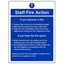 Fire Instructions For Staff